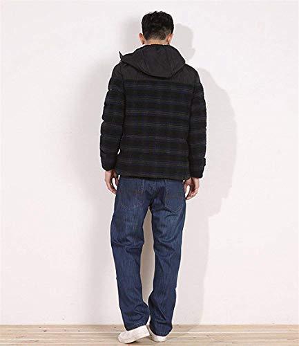 Pesante Dritti Jeans Taglie Forti Elasticizzati Fodera Comodo Denim Colour Uomo In Casual Pile Con Battercake Pantaloni Gamba 74z4H
