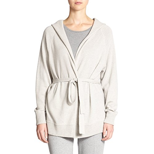 Cashmere Tie Front Cardigan (MaxMara Max Mara Women's Arad Cashmere Hooded Cardigan Medium Light Grey)