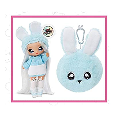 Fashion Doll Na Na Na Surprise 2-in-1 Aspen Fluff with Zippered Plush Bunny POM: Toys & Games