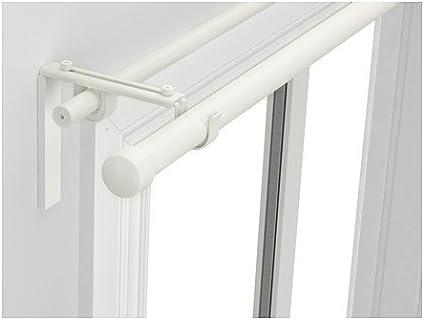 IKEA RACKA/HUGAD - doble barra de la cortina de combinación, blanco - 210 - 385 cm: Amazon.es: Hogar