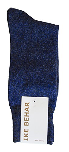 Ike Behar Men's Designer Glitter Dress Socks, Royal Blue from Ike Behar