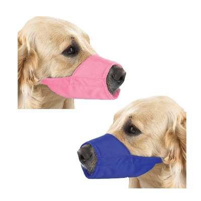 GG Lined Fashion Muzzle 7 In Snout Size 3 Blue, My Pet Supplies