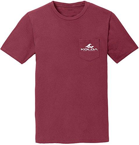 Koloa Classic Wave Pigment Dyed Pocket T-Shirt-Merlot-M ()