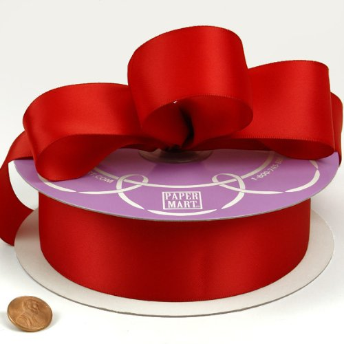 Lowest Prices! Red Double Face Satin Ribbon, 1-1/2 X 50Yd