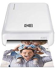Kodak - Impresora fotográfica mini 2HD, instantánea, inalámbrica y portátil, con tecnología de impresión patentada 4Pass,compatible con iOS y Android, blanco
