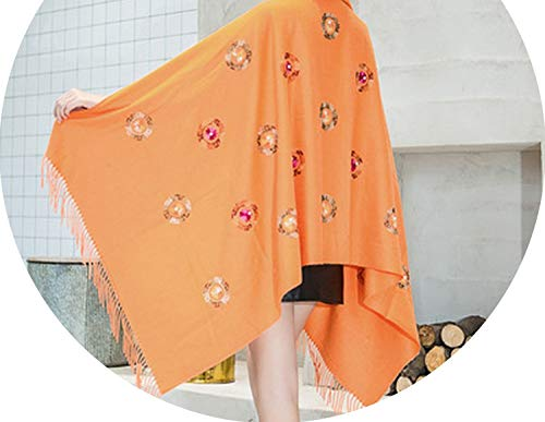 Price comparison product image arrival scarf autumn winter thick double-sided large thick warm shawl women scarf, orange, onesize