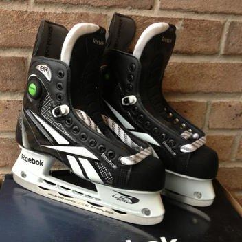 Reebok 8K Pump Jr Junior Ice Hockey Skates Size 3D