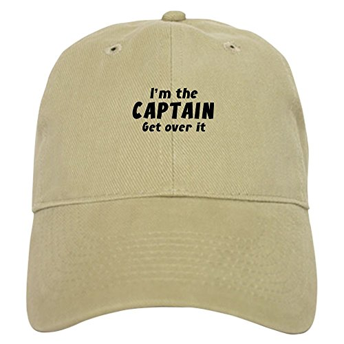CafePress - I'm The Captain Get Over It Cap - Baseball Cap with Adjustable Closure, Unique Printed Baseball Hat