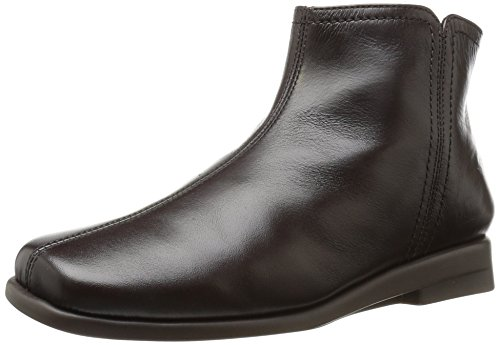 Aerosoles Women's Double Trouble 2 Ankle Boot, Dark Brown Leather, 6.5 Wide US