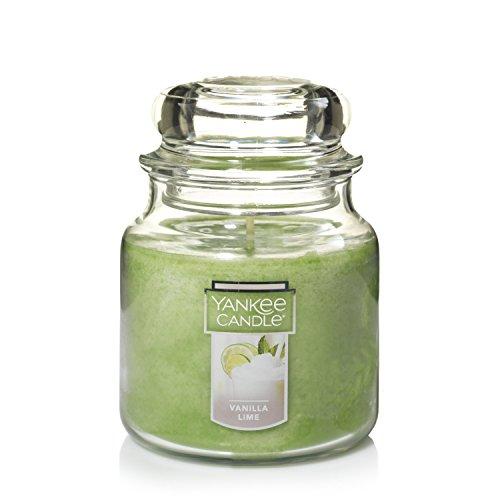 Medium Twist Candles - Yankee Candle Medium Jar Candle, Vanilla Lime