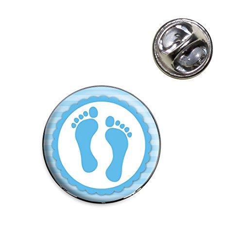 Baby Boy Footprints Lapel Hat Tie Pin Tack ()