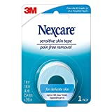 Nexcare Sensitive Skin Tape, Made by 3M, 1-inch X 4 Yard Roll (Pack of 6)