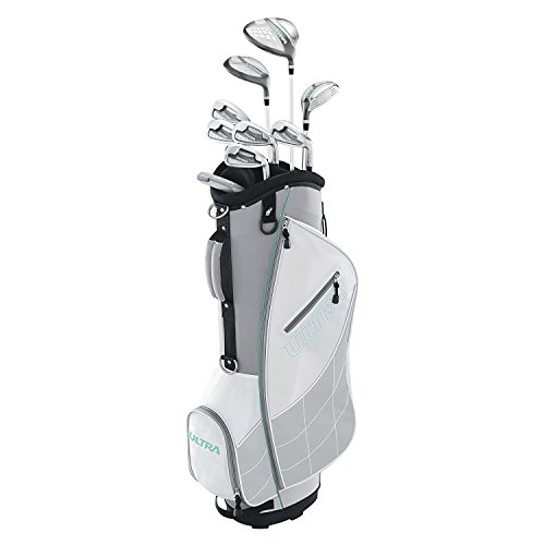Wilson Ultra Womens Right Handed Complete Golf Club Set with Cart Bag, Gray/Mint (Club Golf Wilson)