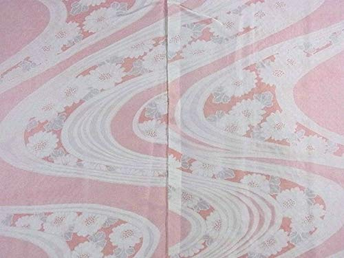リサイクル 羽織 絞り 流水に菊などの花模様 裄64.5cm 身丈81cm  正絹