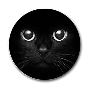 Black Cat Round Mousepad Mouse Pad Great Gift Idea