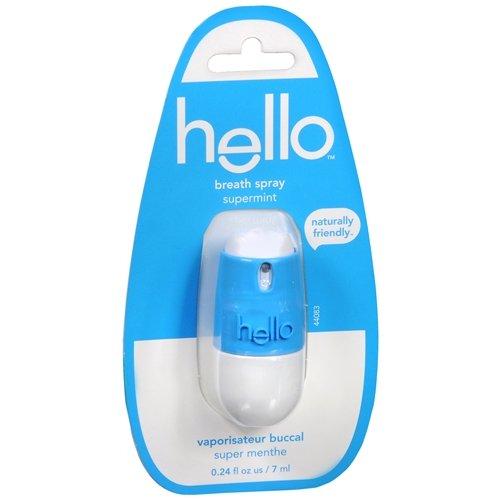 Hello Breath Spray, Supermint 0.24 fl oz (12 PACK)