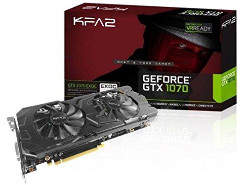 KFA2 70NSH6DVO5MK Carte Graphique Nvidia GeForce GTX 1070 OC 8192 Mo GDDR5