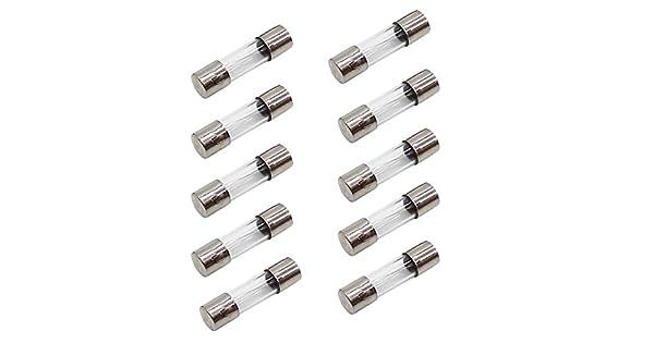 250 V 3 o 5 o 10 Unidades 5 mm x 20 mm Fusible de Vidrio de 12 A soplado Lento 12 AL250 V