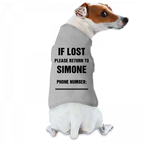 If Lost Please Return To Simone: Doggie Skins Dog Tank - Simone Walker