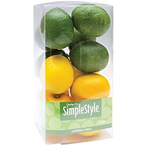 FloraCraft Design It Simple Decorative Fruit 13/Pkg, Mini Lemons and Limes 6