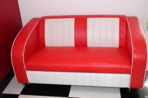 Charmant American Diner Furniture 50s Style Retro Red/White Sofa