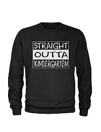Expression Tees Straight Outta Kindergarten Crewneck Sweatshirt