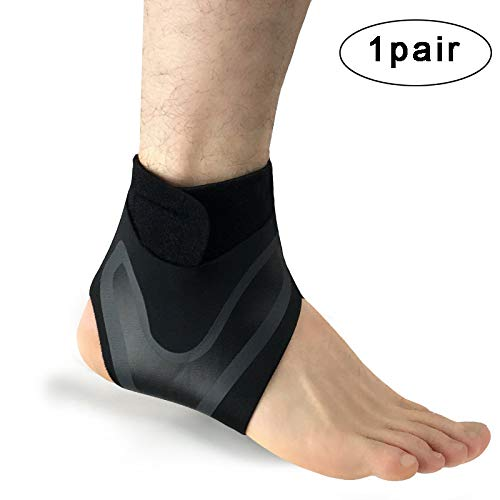 (SITAKE 1 Pair Adjustable Elastic Ankle Support for Men and Women - Ankle Brace for Arthritis, Pain Relief, Sprains, Sports Injuries and Recovery (L))
