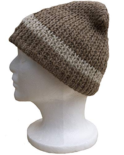 Classic Alpaca Hat Lined with Fleece (Fawn/Cream)