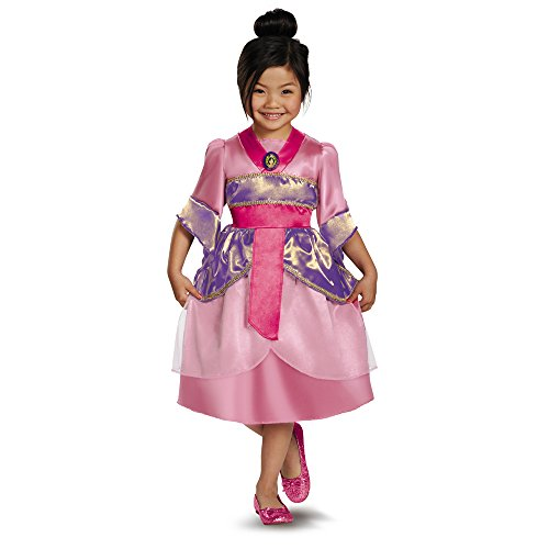 Disguise Disney's Mulan Sparkle Classic Girls Costume, 3T-4T from Disguise
