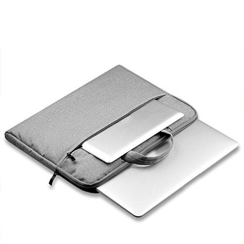 YiJee Funda Blanda para Ordenador Portátil Macbook Pro Retina 11.6 - 15.6 Pulgadas 15.4 Inch Gris