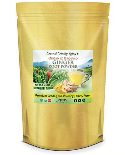 (Organic Ginger Powder 8 oz Spice Raw Aromatic for Supplement )