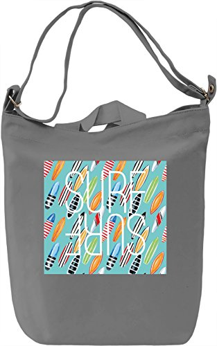Surf Borsa Giornaliera Canvas Canvas Day Bag| 100% Premium Cotton Canvas| DTG Printing|