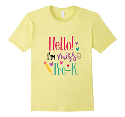 Hello Miss Pre-K Shirt Cute Kids