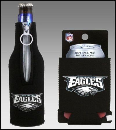 セットの2 Philadelphia Eagles Can & Bottle Koozie Cooler B002OC311M