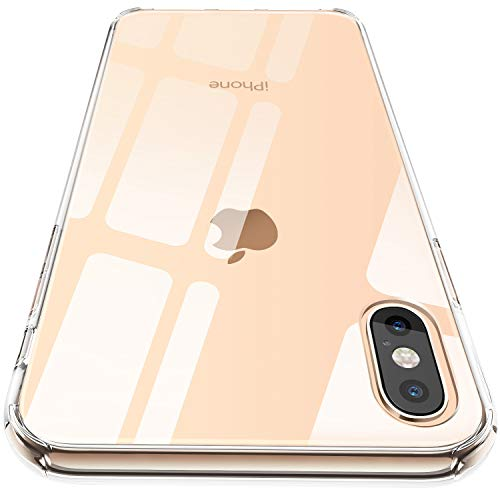 CASEKOO iPhone Xs Max Case Clear Hard Back Soft TPU Bumper Drop Protection Anti-Scratch Transparent Cover Case Compatible with iPhone Xs Max 6.5 inch 2018 [Frost Series]-Crystal Clear ()