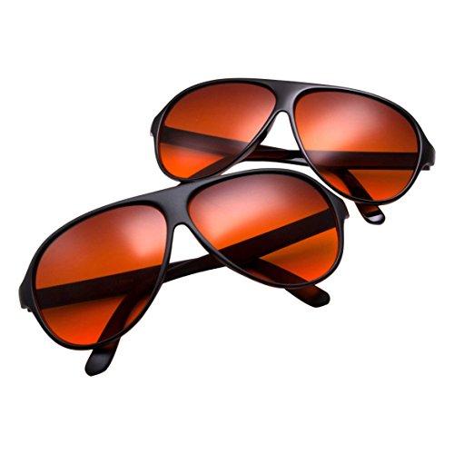 grinderPUNCH Blue Blocking Plastic Aviator Sunglasses Great for Driving 2 - Margot Tenenbaums