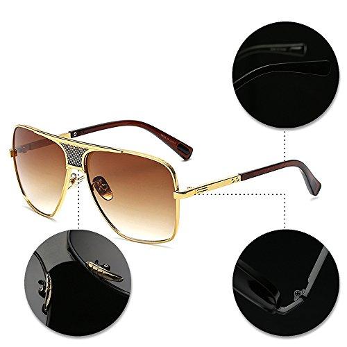 XFentech Protección del de UV400 Gafas Vendimia Libre Hombres Marco Estilo la Aire la de al Metálico sol 06 de 8Rq8r