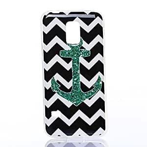 WQQ Black and White Playground Anchor Pattern Silicone Soft Case for Samsung S5 I9600