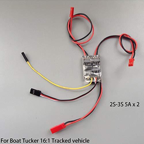 FidgetGear Dual Way Bidirectional ESC 2S-3S 5A Brushed ESC Speed Controller for RC Vehicle from FidgetGear