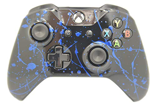 Hand Airbrushed Color Burst Xbox One Wireless Custom Controller (Blue) (Blue Shell Xbox Controller)