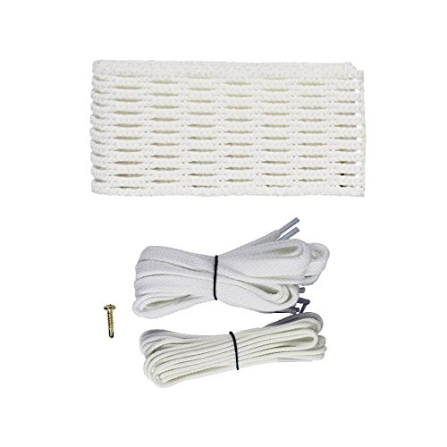 STX Lacrosse 10D Memory Mesh Kit, Attack/Midfield/Defense, White
