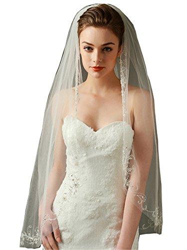 LynnBridal Fingertip Bridal Beaded Scrollwork product image