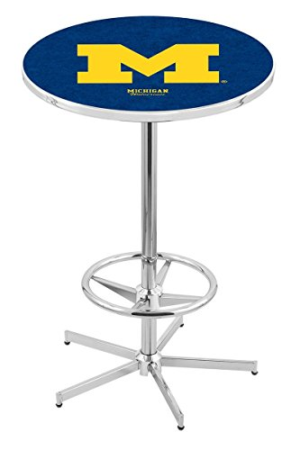 Holland Bar Stool L216C University Of Michigan Officially Licensed Pub Table, 28
