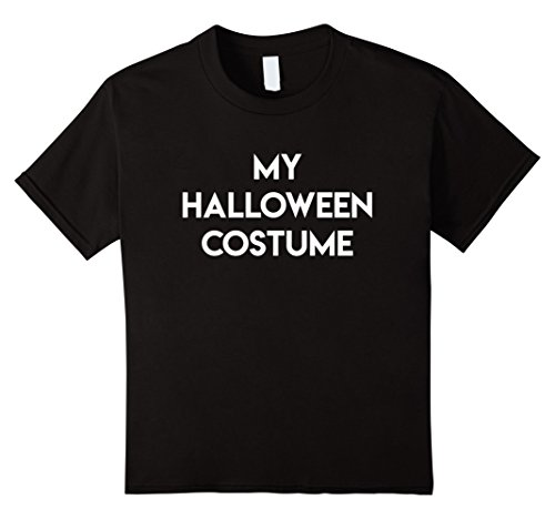 Super Beer Girl Costume (Kids Simple Funny Easy My Halloween Costume Shirt 10 Black)