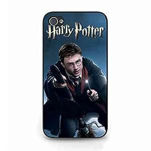 Harry Potter Logo Black Hard Plastic Funda For Iphone 4,Personalized Harry Potter Funda