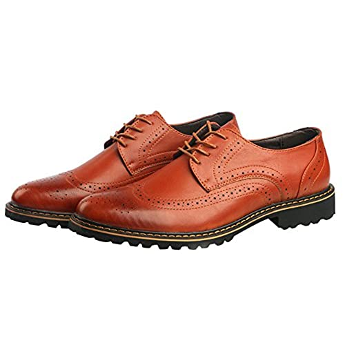 5f4e6ef982204 NXY Men's Pattern Leather Breathable Brogue Shoes For Work, Duty on ...
