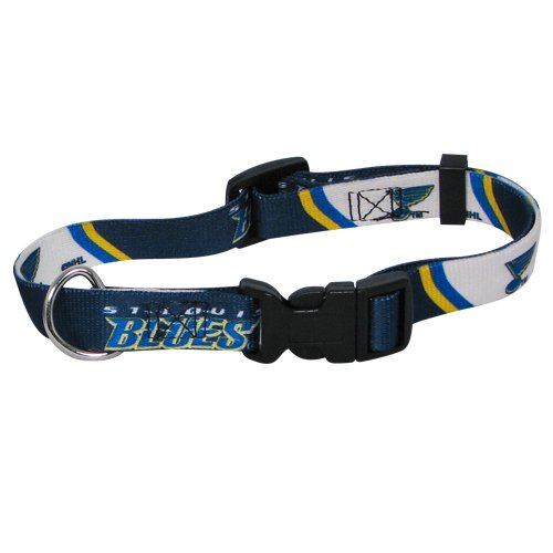 NHL St. Louis Blues Adjustable Pet Collar, Team Color, Medium