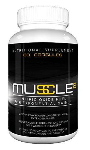 MUSCLE SQUARED – Premium Nitric Oxide Booster with L-Arginine for Exponential Muscle Gain