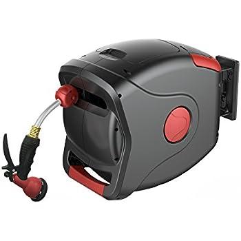 gartenkraft retractable water hose reel 50 58 hose - Retractable Garden Hose Reel