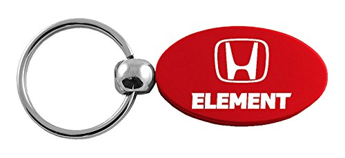 Honda Element Red Oval Key Chain Car Gift Fob INC Au-Tomotive Gold